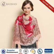 Bowknot lã de inverno pashmina moda lenço da senhora