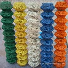 Valla de enlace de cadena recubierta de PVC con diferentes colores