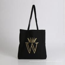 bolsa de compras de algodón con soporte