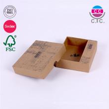 caja de papel reciclado barato de alta calidad de Kraft para los accesorios