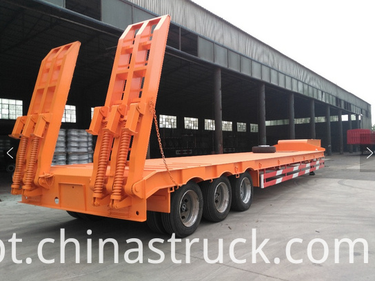 60Ton low bed trailer truck picture 2