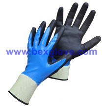 Double Coated Nitrile Glove, Water Proof
