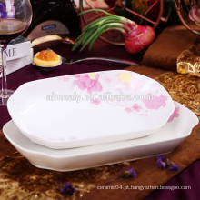prato de peixe de porcelana de forma de retângulo