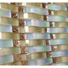 Carrelage en mosaïque de cristal, mosaïque en mosaïque (HGM376)