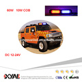 12-24V 60W COB Super Bright Strong Magnet Flashing Safety Mini Warning Light Bar