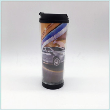 Eco Friendly Plastic Single Wall Coffee Cups with Lid and Customized Logo