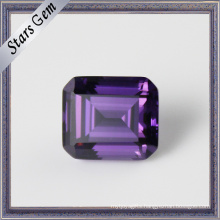 Amethyst Color Highly Professional Octangon Emerald Cut CZ