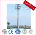 Punto de distribución de la línea de transmisión de precio favorable galvanizado, polos de energía de acero eléctrico galvanizado