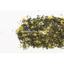 Mistura Flavoured natural do saquinho de chá do fruto da manga com chá verde