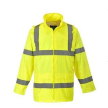 High Visibility Safety Jacket Made of 100% Polyester Oxford Fabric En/ ANSI