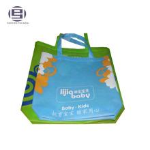 Логос напечатал Non сплетенный костюм shoppingbag с ручкой веревочки