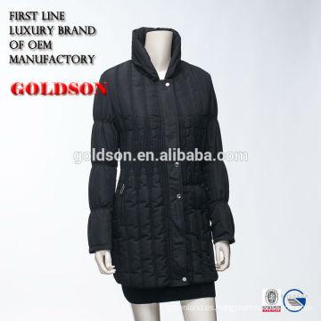 Super fino acolchado acolchado de invierno chaqueta 2017 para las mujeres hechas en China