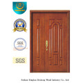 Chinese Style MDF Double Door with Solid Wood for Entrance (xcl-025)