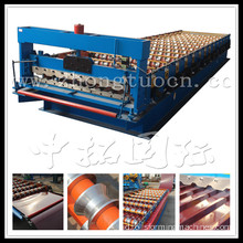 Aluminium Langkah Tile Roll Forming Machine