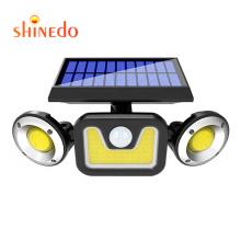 3 Head 83 LEDS Motion Sensor Security Lights Solar Security Light Outdoor  Adjustable Flood Lights Spotlights 270 Rotatable