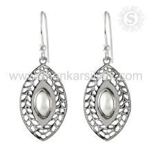 Jaipur Elegante Pérola Gemstone Brinco 925 Prata Sterling Atacado Jóias Prendas De Prata Prata Jóias