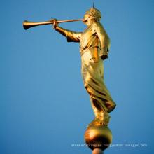 Estatua de moroni del ángel mormón de la venta caliente del bronce