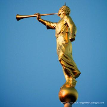 Vente chaude bronze mormon ange moroni statue