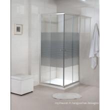 Quincaillerie personnalisée à charnière en verre tempéré Salle de douche simple (A22)