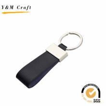 Top venda em branco de metal PU couro Keychain para atacado