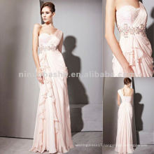 NY-2538 One Strap Pink Summer Long Chiffon Dress