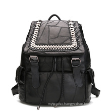 Genuine Leather Backpack for Lady