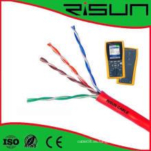 Cobre completo de alta calidad UTP Cat5e Cable Pass Fluke Test