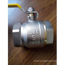 Válvula de bola de control de latón de 3-4 pulgadas con manija de hierro (YD-1021-2)