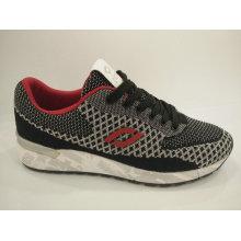 Gray Knitting Comfort sapatos de corrida Casual para homens