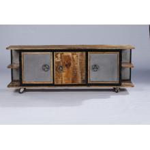 Armoire de barre en bois de style nouveau avec espace de rangement plus grand