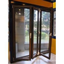 Porte en verre coulissante se pliante d'alliage d'aluminium pour le patio, extérieur