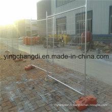 Barrière temporaire utilisée / clôture temporaire démontable galvanisée chaude plongée