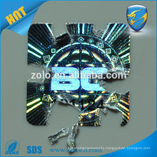 Anti-fake reflective destructive hologram sticker with high security technology