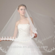 TS1 White Sort Tulle Lace Bridal veils