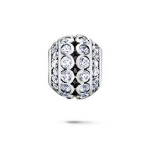 Очистить CZ European Beads 925 Silver Jewelry