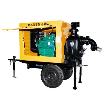 Reboque diesel da bomba de água da irrigação da agricultura montado