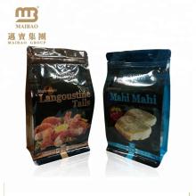 Preço de fábrica Fda habilitado logotipo personalizado Resealable laminado plástico Food Packaging saco de peixe salmão com fecho de correr