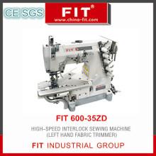 Alta velocidade do bloqueio do aparador de tecido máquina de costura a mão esquerda (600-35ZD)