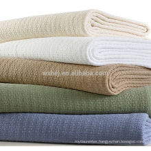 Manufacturers Solid Color Cellular Thermal Heavy Cotton Blanket
