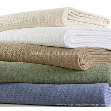 Cobertor térmico térmico térmico celular da cor sólida dos fabricantes