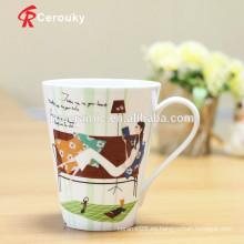 Taza cerámica de cerámica de la taza de la porcelana de hueso de la alta calidad