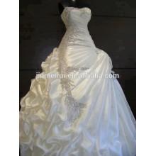 Fotos reais 2014 Lindas colchas de uma linha Vestidos de noiva de cristal sem alças Bonitos vestidos de noiva deslumbrantes