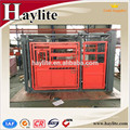 Cattle handling equipment used heavy duty cattle crush squeeze chute with weighing scale