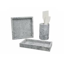 Bandeja decorativa de mármore quadrada da bandeja D30cm