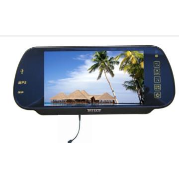 7 pulgadas espejo retrovisor Digital Monitor USB SD Bluetooth