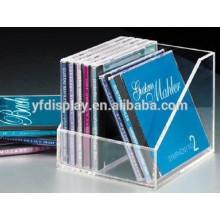 boîte de support d'affichage CD acrylique transparent