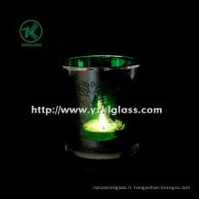 Coupe de bougie en verre à double paroi couleur par SGS (KLB111007-42)