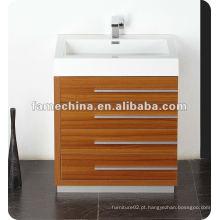 New Polymarble bacia madeira folheado MDF banheiro mobiliário