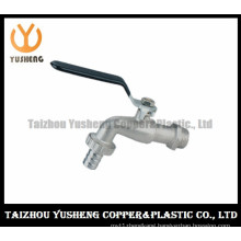 Nickel-Plating Brass Water Faucet with Iron Handle (YS4003)