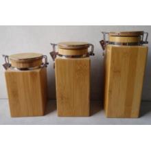 Neuer Entwurfs-Multifunktions-Bambus-Kanister / Bambus-Glas / Siegel-Topf
